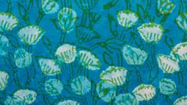 Prairie florale bleu turquoise (2)