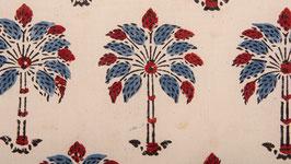 Palmiers rouges et indigo