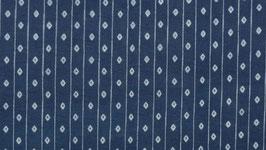 Tissu bleu aux losanges blancs
