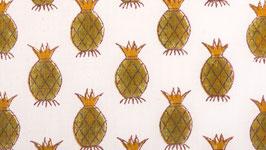 A. Ananas couronnés brun vert