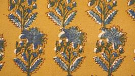 Ajrak aux grandes fleurs indigo (1)