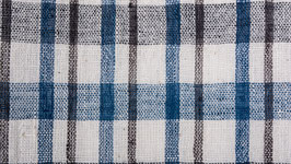 Tissu bio aux larges rayures bleues