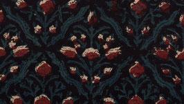 Petite fleur de coton rouge écrue