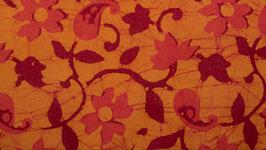 Fleurs de cachemire rose pêche
