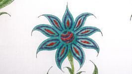 Grandes fleurs étoilées turquoise
