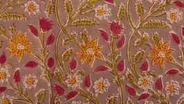 Lierre floral rose et orangé