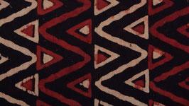 Zigzags rouge brique