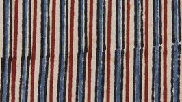 Rayures bicolores rouge et bleu pastel