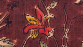 Kalamkari aux lys rouges