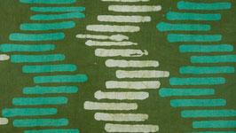 Batik à bâtons rompus verts et blancs