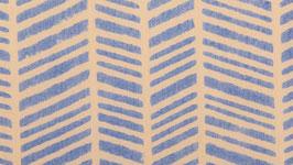 Chevrons hachurés bleu pastel