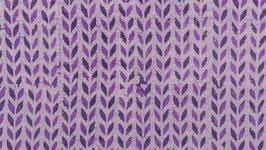 Batik aux lignes florales violettes