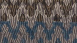 Shibori bicolore brun et indigo