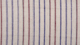 Tissu bio aux rayures coloreés
