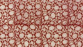 A. Fleurs entrelacées grèges et rouges