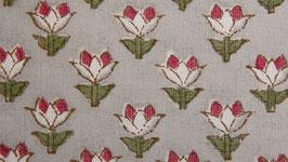 Petites fleurs stylisées gris rouge (1)