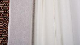A. Tissu tissé blanc