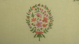 Palmette florale rose et amande