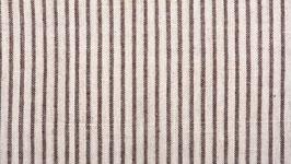 Tissu bio aux rayures ocre brun