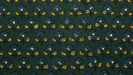 Ajrak aux petites fleurs bleues