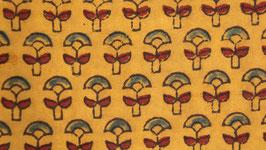 Ajrak aux petites fleurs ocre rouge (2)