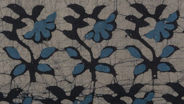 Batik fleuri bleu Baltique