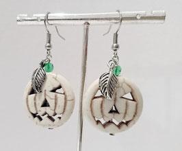 Halloween Kürbis Ohrringe
