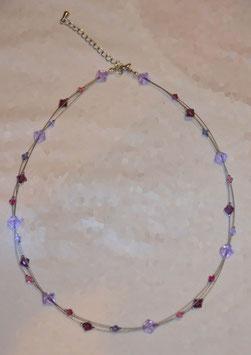 Collier aus Swarovski Glasschliffperlen
