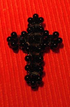 Großes Kreuz aus Swarovski Glasschliffperlen