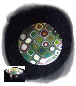 """Ring """"Klimt"""" aus Fimo"""