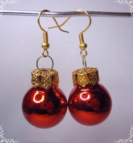 Weihnachtskugeln Ohrringe