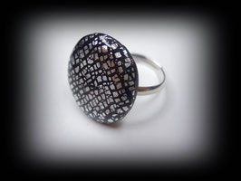 "Fimo Ring ""Crackle"""