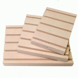 Set 3 Nutplatten 150 mm breit, 100/150/210 mm lang