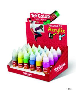 Acryl Farben Metallic im 6er-Set, je 25 ml. Zum Verzieren von Alltagsgegenständen, Steinen