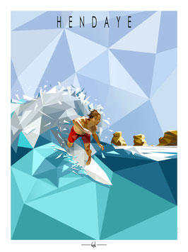 Affiche GL Design - Surfeur