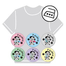 Mini Bügeletiketten | Dalmatiner