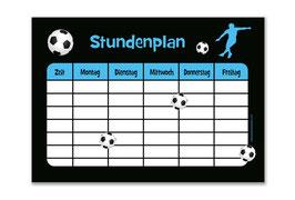 A4 Stundenplan | Fußballspieler blau