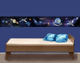 Kinderbordüre | Weltall - Raumschiff - Planeten