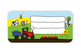 Heftaufkleber 3,0 x 6,5  cm | Bauernhof