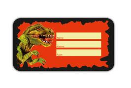 Heftaufkleber 4,4 x 8,4 cm | Tyrannosaurus Rex