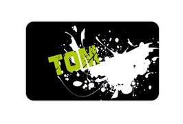 Brotdosenaufkleber | Graffiti Farbklecks - grün