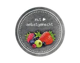 Marmeladenaufleber rund | Tafeloptik - Früchte 1