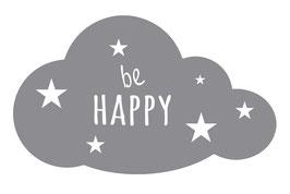 Wandaufkleber | Wolke - Be Happy