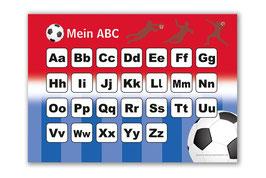 ABC Lernposter | Fußball rot-blau