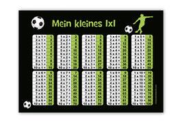 1x1 Lernposter | Fußballspieler grün