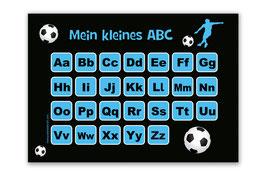 ABC Lernposter   Fußballspieler blau