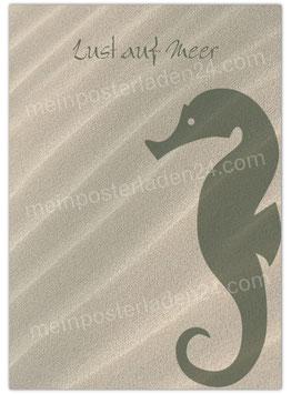 Posterdruck - Lust auf Meer - Seepferdchen