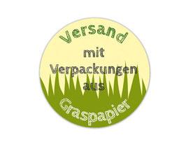 Verpackungsetiketten - rund | Versand mit Verpackungen aus Graspapier