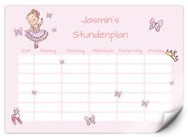 Stundenplan - selbstklebend   Ballerina rosa