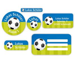 Schulaufkleber - Set | Fußball